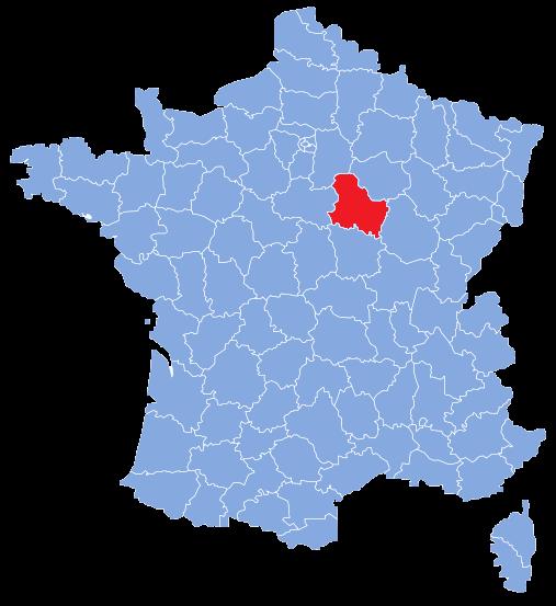 Yonne - Carte de France