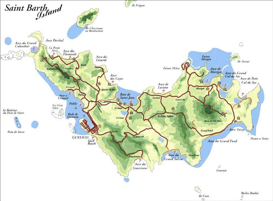 Carte Saint-Barthélemy