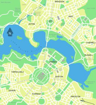 Canberra - Carte