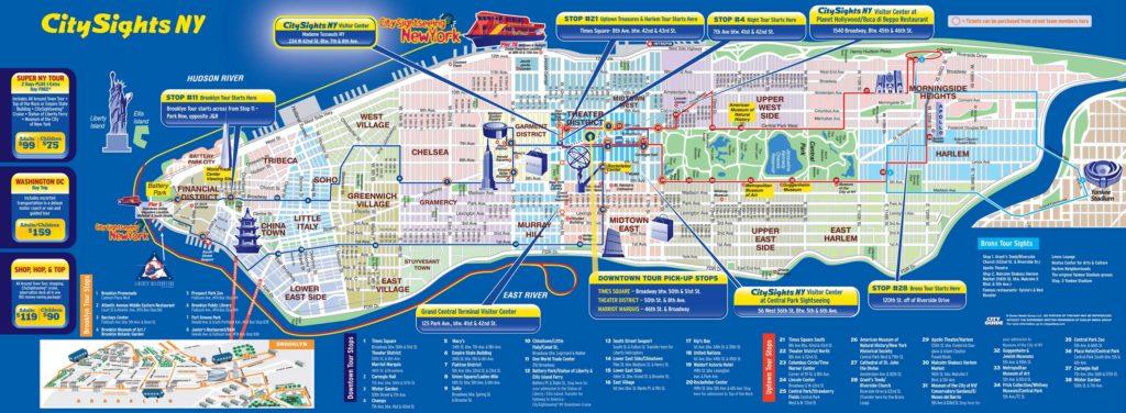 Carte touristique New York