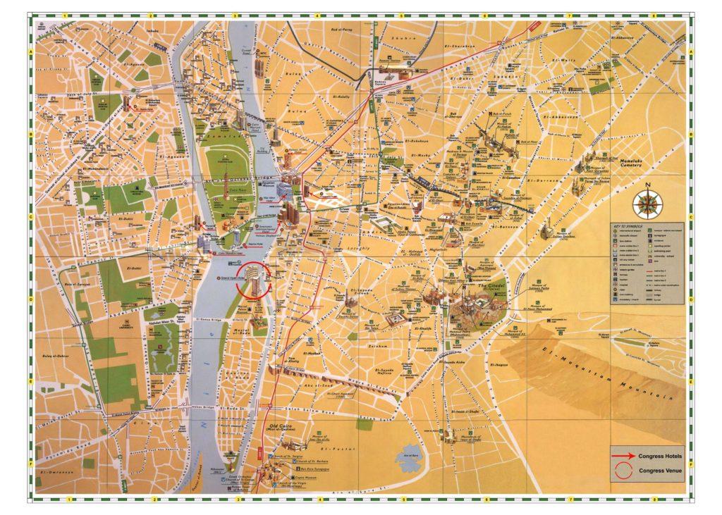 Carte du Caire