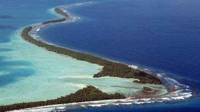 Atoll dans le Pacifique