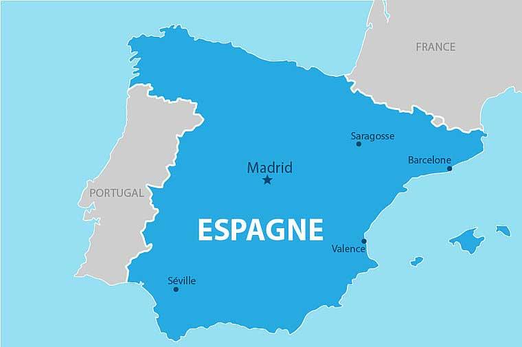 Carte Espagne- Grandes villes