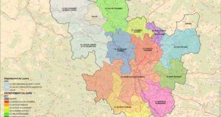 Cévennes carte géographique