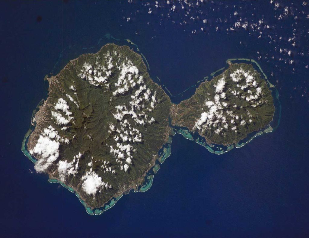 Photo satellite de Tahiti