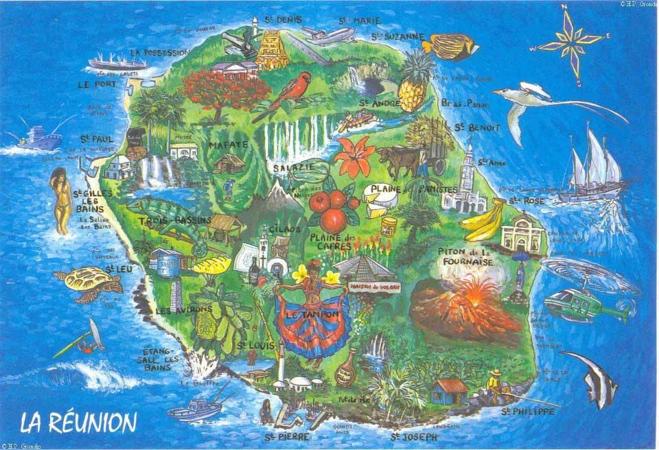 Ile de la Réunion - Carte
