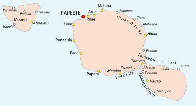 Carte de Tahiti