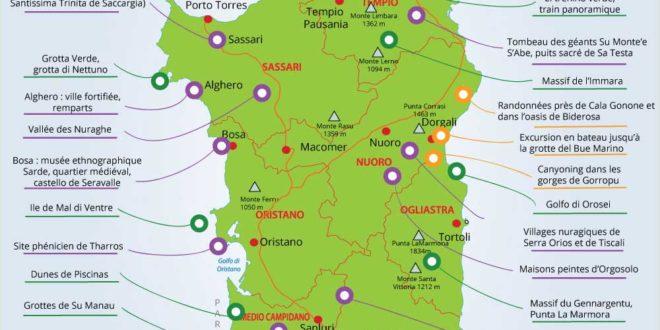 Carte Sardaigne