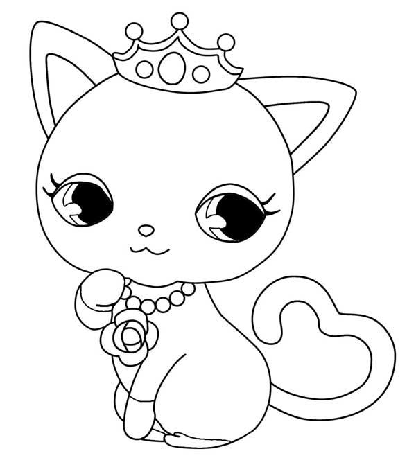 coloriage jewelpet kya - dessin à imprimer