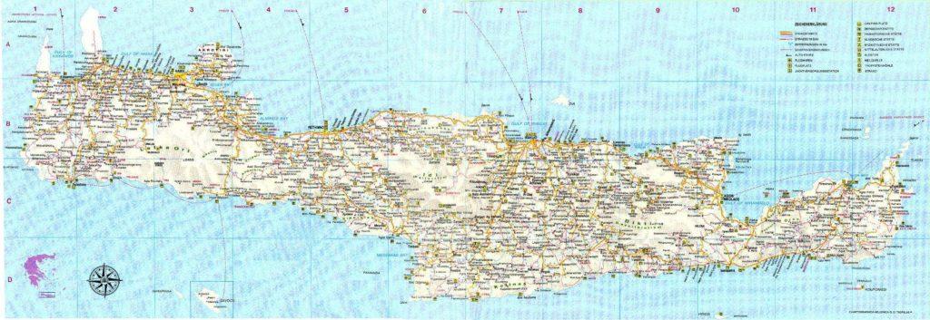 Crète carte géographique