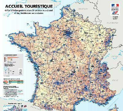 Carte accueil touristique en France