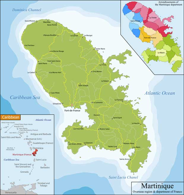 Martinique - Carte