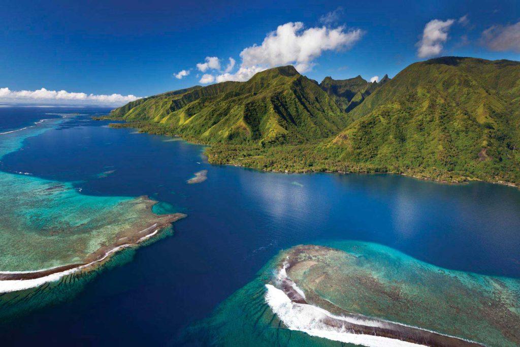 Photo de la presqu'il de tahiti