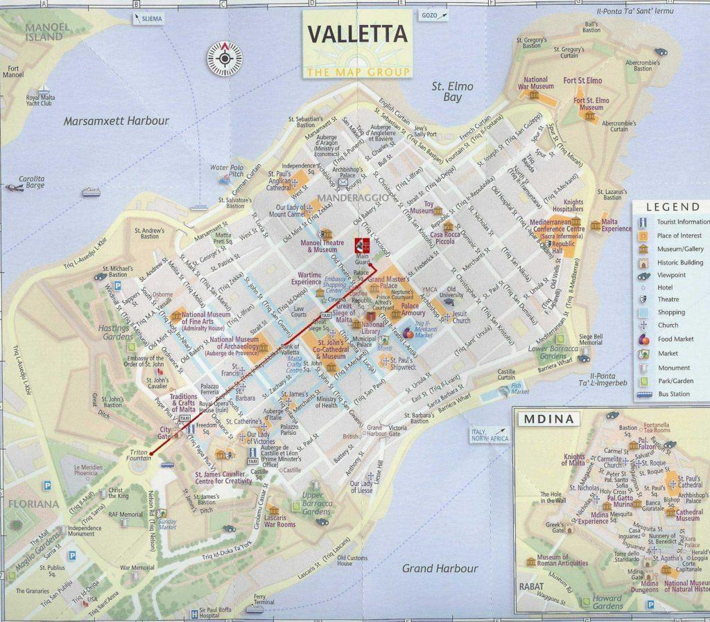 La Valette - Carte touristique