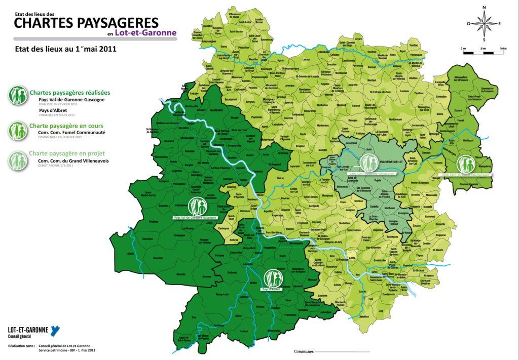 Carte paysages du Lot et Garonne