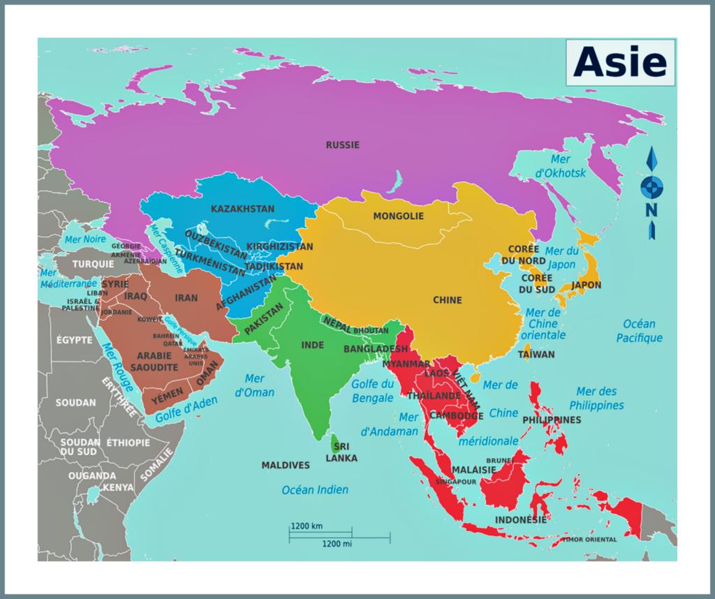 Russie carte du monde