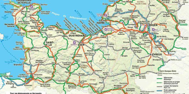 carte de Normandie