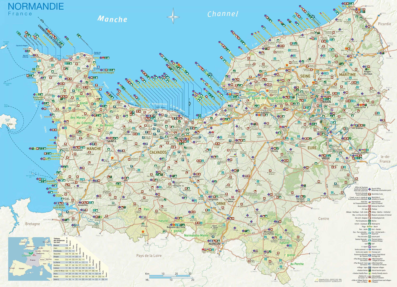 Carte de la Normandie » Vacances - Arts- Guides Voyages
