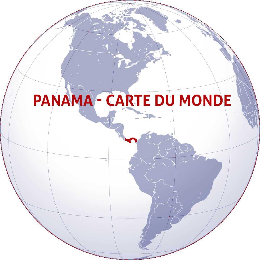 Panama sur la carte du monde