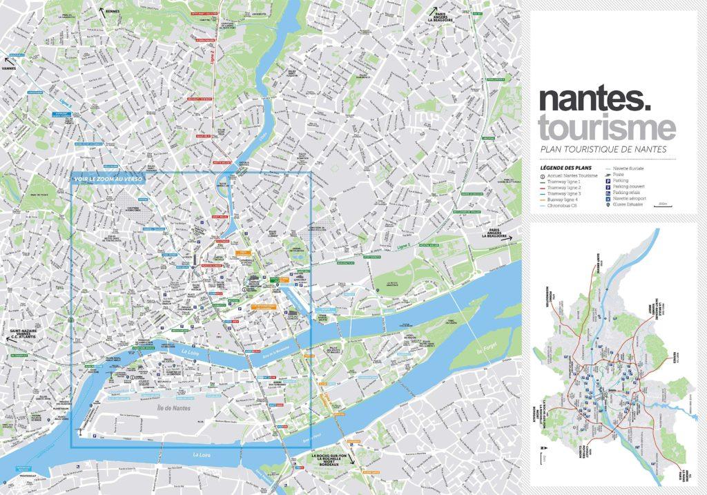 Nantes- carte touristique