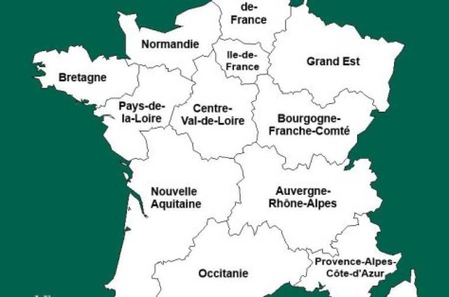 Nouvelles régions de France