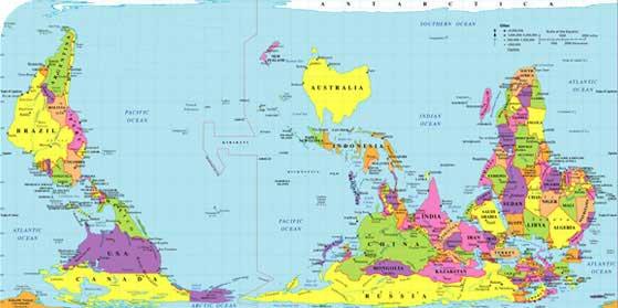 Nouvelle Zélande - Carte du monde