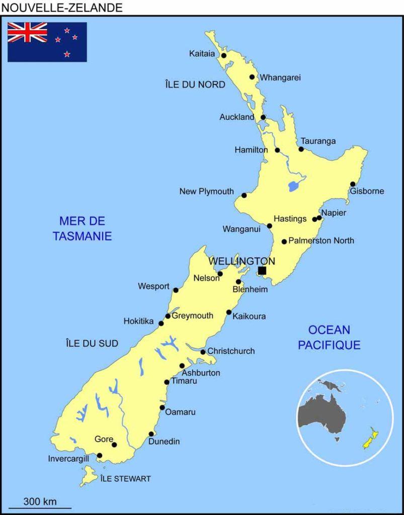 Carte Nouvelle Zelande