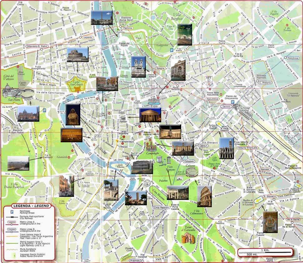 Carte de Rome - Plan