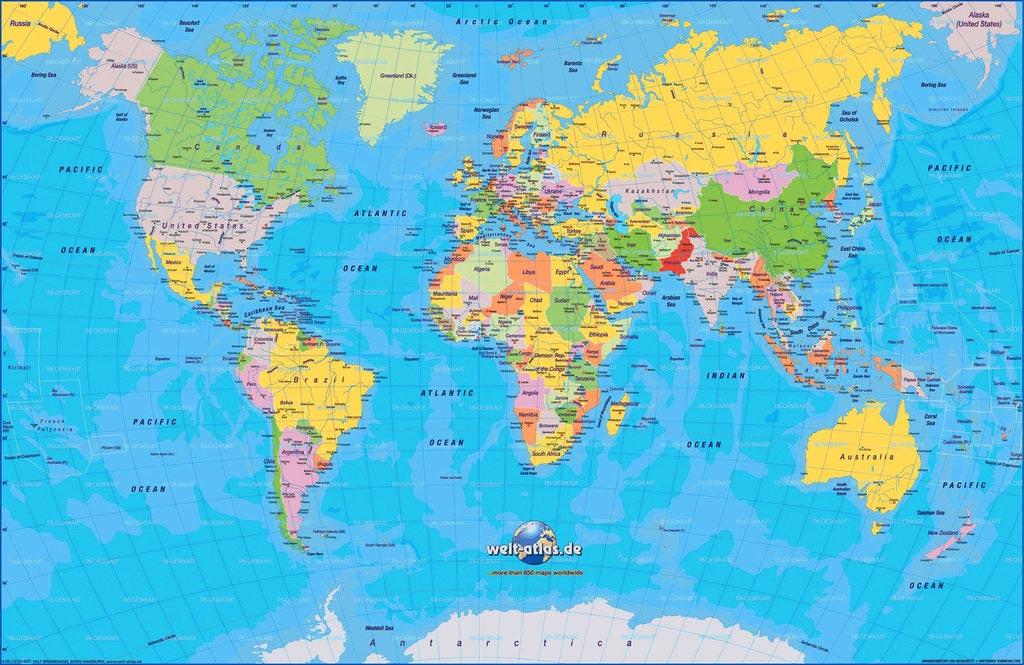 Carte du monde détaillée