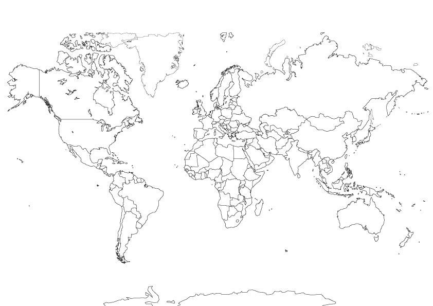 Carte du monde muette