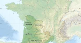 Carte de France - Sud Ouest
