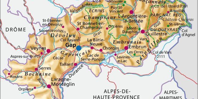 Carte des Hautes Alpes