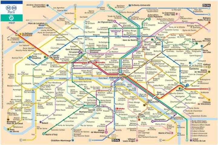 Plan metro Paris