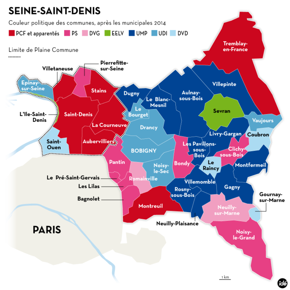 Seine Saint Denis - Carte