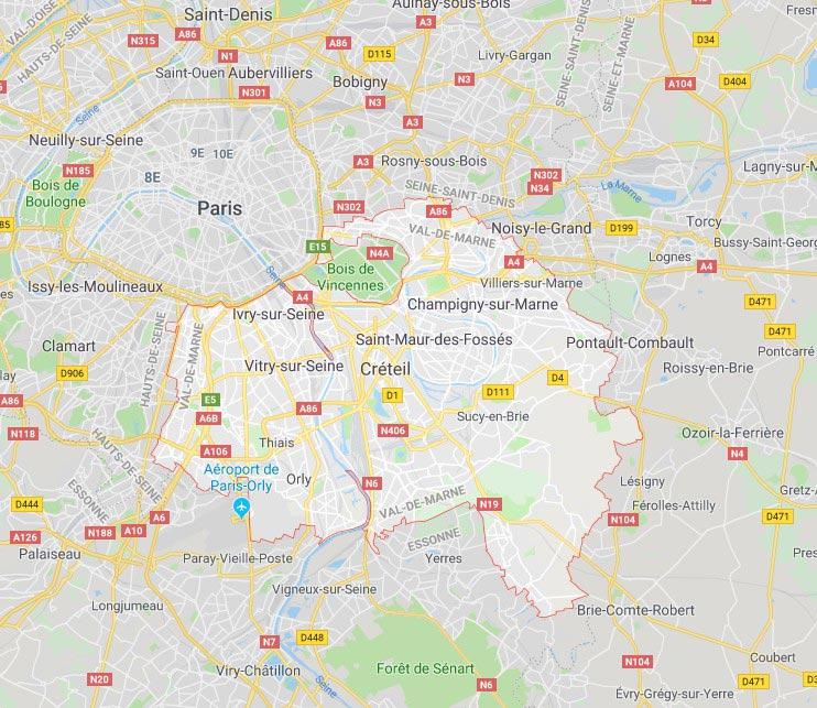 Plan Val de Marne