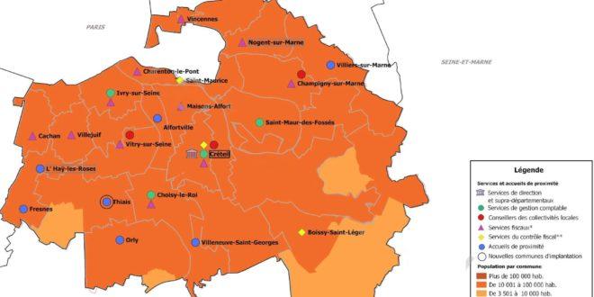Carte Val de Marne
